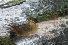 Brown water from the peaty hills